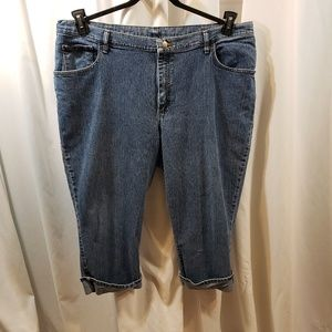 VTG 80 Blu plus 24 cropped stonewashed stretch boy